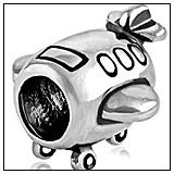 Airplane-Bead-Charm