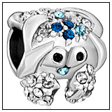 Blue Crystal Crab Charm