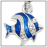 Blue and Silver Tropical Fish Bead