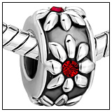 Crystal Flower Charm Bead