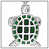 Green Sea Turtle Charm Bead