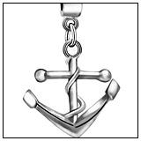 Nautical Anchor Dangle Charm Bead