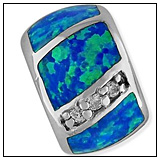 Tropical Blue Green Charm Bead