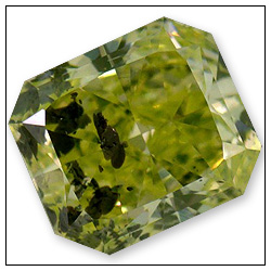 029 Carat Fancy Intense Yellowish Green Diamond