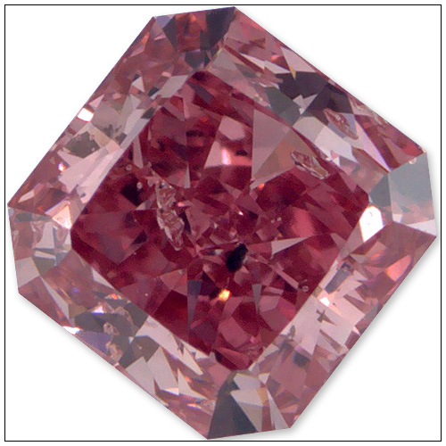 040 Carat Fancy Vivid Purplish Pink Diamond