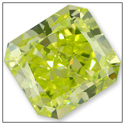 055 Carat Fancy Intense Greenish Yellow Diamond
