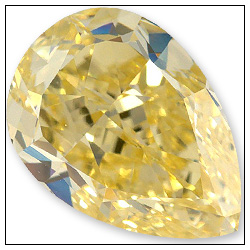 073 Carat Fancy Intense Yellow Diamond