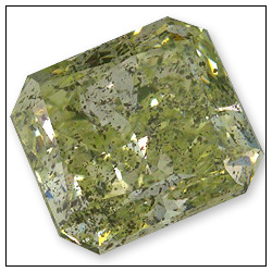 102 Carat Fancy Yellowish Green Diamond