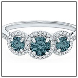 Helzberg Jewelers 3 Blue Diamond Engagement Ring