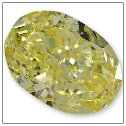305 Carat Fancy Intense Yellow Diamond