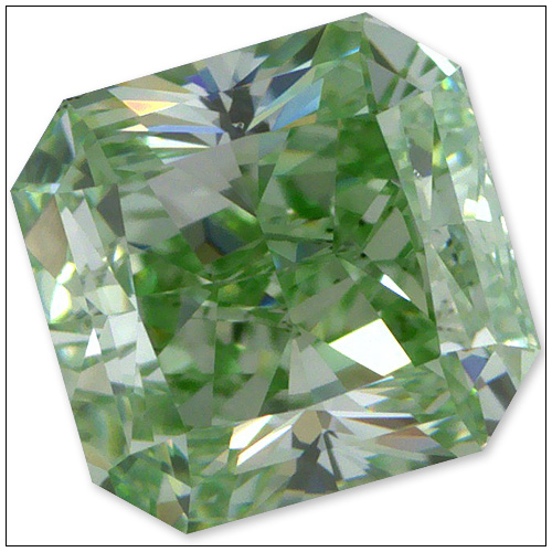 73 Point Fancy Intense Green Diamond