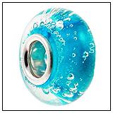 Blue Bubbles Murano Glass Bead