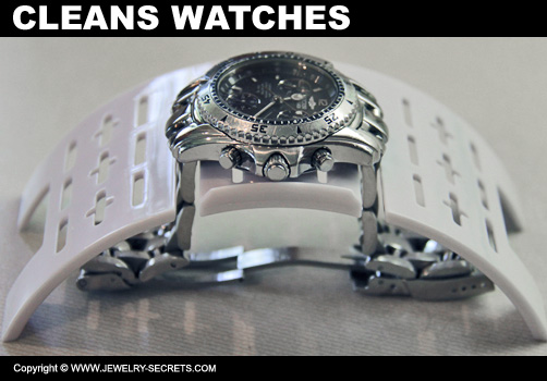 Jewelry Cleaner Cleans Watches