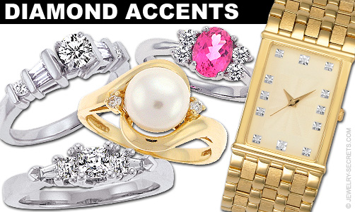 Diamond Accents Examples In Jewelry