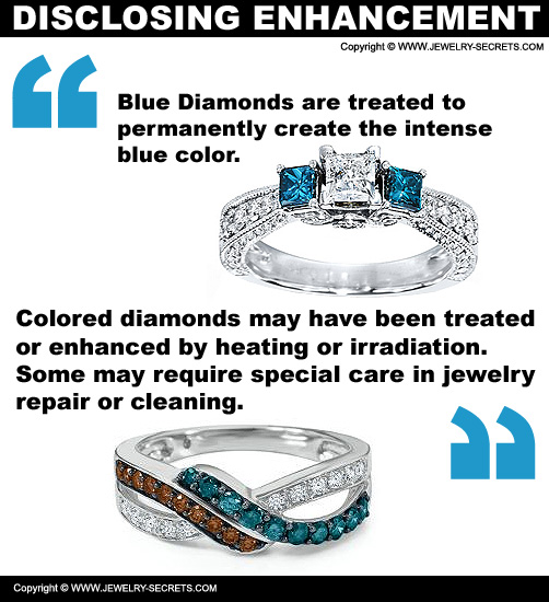Disclosing Colored Diamond Enhancements and Treatements