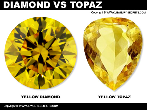 Fancy Yellow Diamond Versus Yellow Topaz
