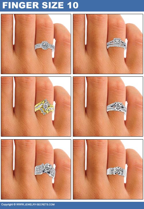 Finger Size 10 Diamond Sizes Wider Engagement Rings