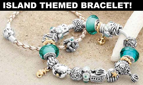 Hawaii Island Themed Charm Bracelet