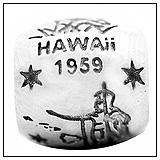 Hawaii State Charm Bead