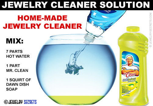 Home Made Jewelry Cleaner Solution
