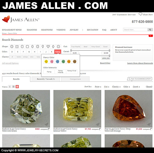 James Allen Fancy Colored Diamonds