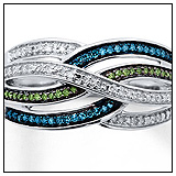Kay Jewelers Blue Green Diamond Ring