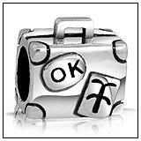 Luggage Suitcase Charm Bead