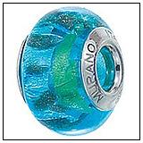 Blue Murano Glass Bead