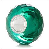 Sea Green Crystal Charm Bead