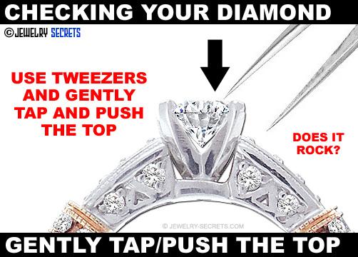 Tap The Top Of Your Diamond With Tweezers