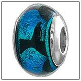 Whale Tail Murano Glass Bead Charm