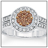 Zales Champagne Diamond Engagement Ring!