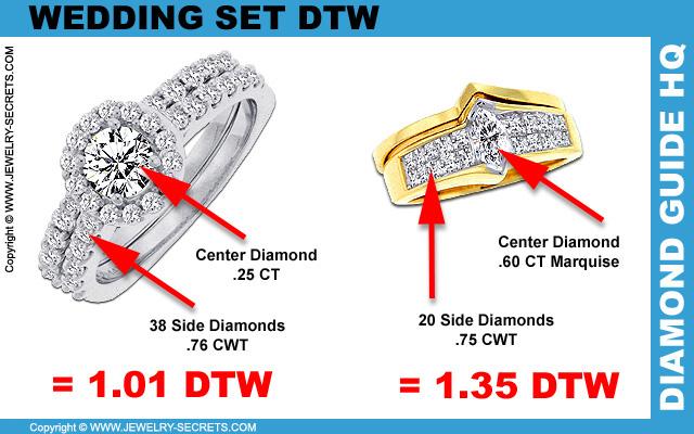 Wedding Set Diamond Total Weight