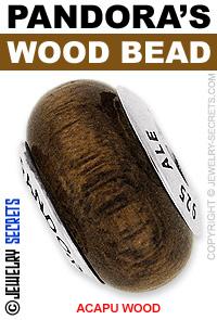 Pandora Acapu Wood Bead!