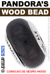 Pandora Coracao De Negro Wood Bead!