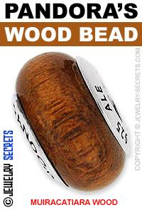 Pandora Muiracatiara Wood Bead!